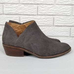 Lucky Brand Frankela Suede Ankle Bootie 9.5 Gray